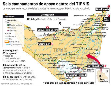 Plan for consulta brigades. Credit: La Razón