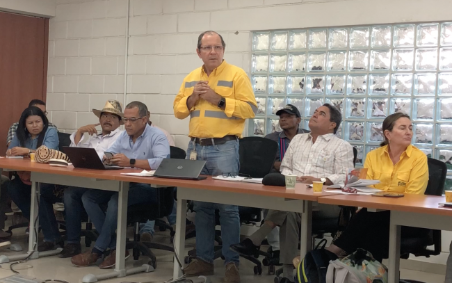 Meeting with Cerrejón's administrators and communities, August 6, 2018. (Hilda Lloréns)