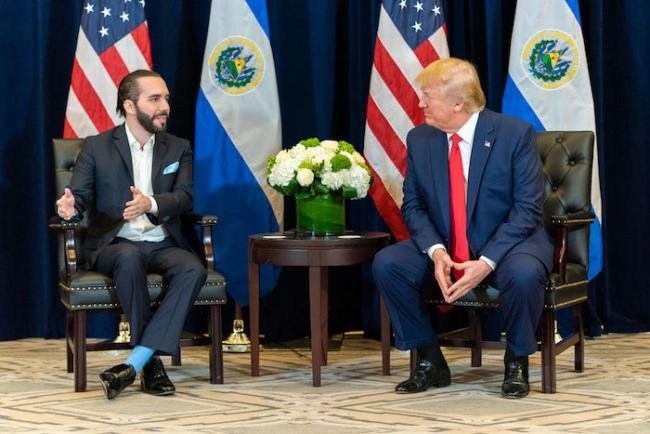 Nayib Bukele reune con Donald Trump, 25 de septimebre 2019, Nueva York. (White House / Shealah Craighead)