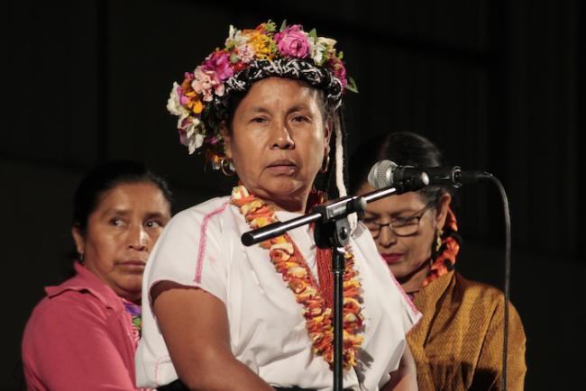 María de Jesús Patricio Martínez, también conocida como Marichuy, la vocera de los movimientos indigenas en las presidenciales de 2018. (Flickr / Adrián Martínez)