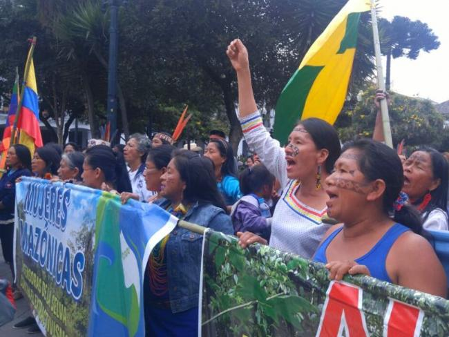 Women Defenders of the Amazon Rainforest Against Natural Resource Extraction collective (Amazon Watch)
