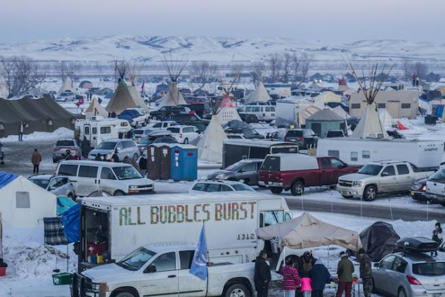 Camp of the Standing Rock resistance against the Dakota Access Pipeline. (Dark Sevier / Flickr / CC BY-NC 2.0)