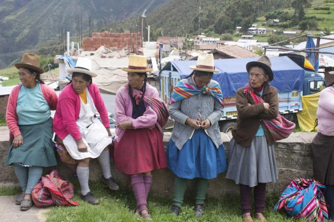 Victim-survivors of forced sterilizations from the greater Cusco region in Pampaconga, Anta on March 25, 2019. (Photo by Jacquelyn Kovarik)