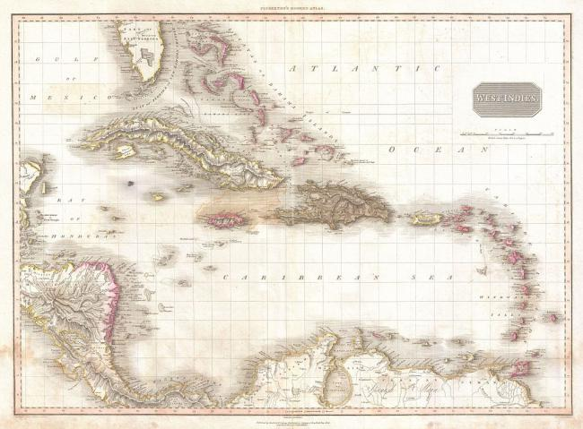 Caribbean Islands (John Pinkerton Map, 1818 / Wikimedia Commons)