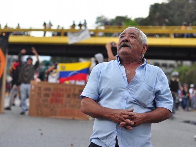 A recent protest in Caracas, Venezeula (andresAzp / Flickr)