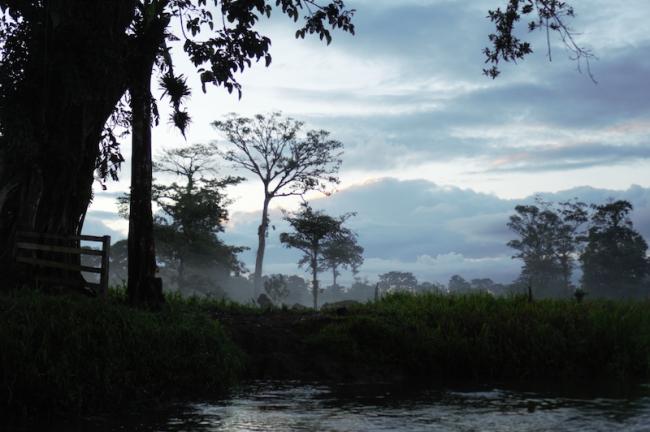 A boat stop between Greytown and El Castillo, within the Indio Maiz Reserve, Nicaragua, November 28, 2019. (Melissa Vida)