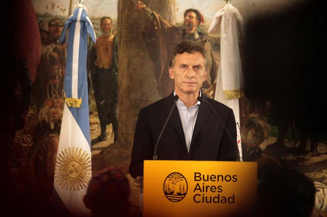Macri at a press conference during his tenure as mayor of Buenos Aires in 2015 (Flickr/Mariana Sapriza)