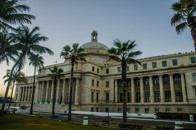 The capitol building in San Juan. Payments on Puerto Rico's public debt will likely favor large U.S. investment firms at the expense of small local creditors. (Wayne Hsieh / Creative Commons)