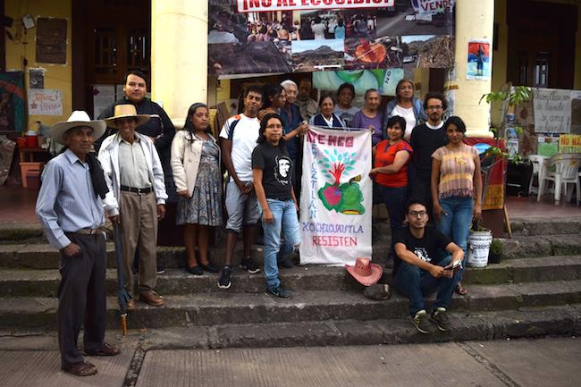 The Tepoztlán city hall entrance has turned into a protest site against the expansion of the highway between Mexico City and Cuernavaca. (Photo by Jose Olivares)