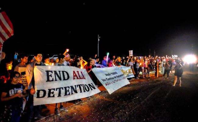 A protest against immigrant detention in Nogales, Arizona, in October (Steve Pavey/Hope in Focus Photography)