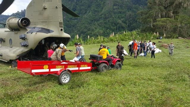 A helicopter of the Southern Command in the Alto Telire, Talamanca, takes part in Operation Pura Vida. (Photo Courtesy of The Ministry of Public Security of Costa Rica)