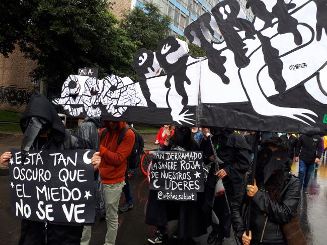 National Strike protests in Bogotá (Photo by Ana Luisa González)