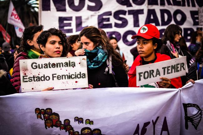 A Ni Una Menos march in Buenos Aires in 2017 brings together social justice struggles from across the Americas (TitiNicola/ Wikimedia Commons)