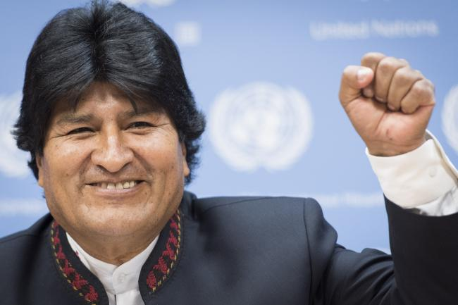 President Evo Morales at the United Nations headquarters in 2015 (United Nations Photo/Flickr)