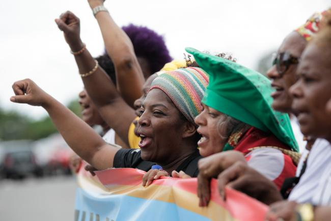 A march in protest of racism, violence and invisibilization of black women in Brasilia, Brazil, in 2015. (Janine Moraes, Ministério da Cultura/Flickr).