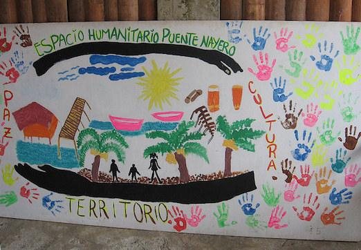 Artwork made by children at the humanitarian space Puente Nayero (@Peace Presence/Flickr)