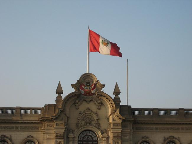 Peruvian flag in Lima (Photo by G M/Flickr)