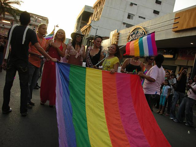 A 2008 gay pride march in Machala, Ecuador (vesselthefilm / creative commons)