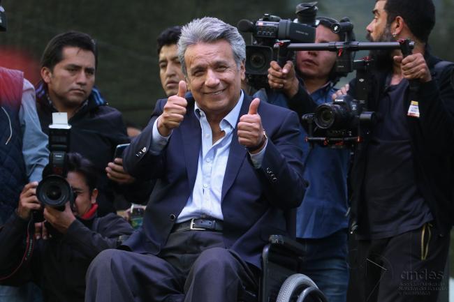 Lenín Moreno, Ecuador's president-elect (ANDES/Micaela Ayala V.)