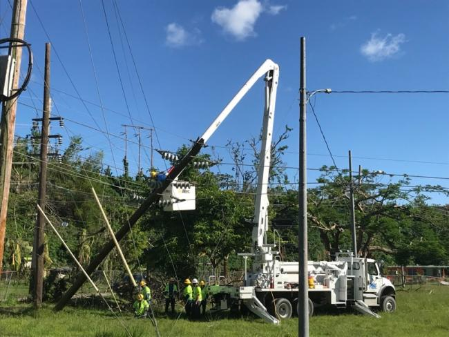 A power restoration project in Puerto Rico after Hurricane Maria (Photo by Jeff Miller)
