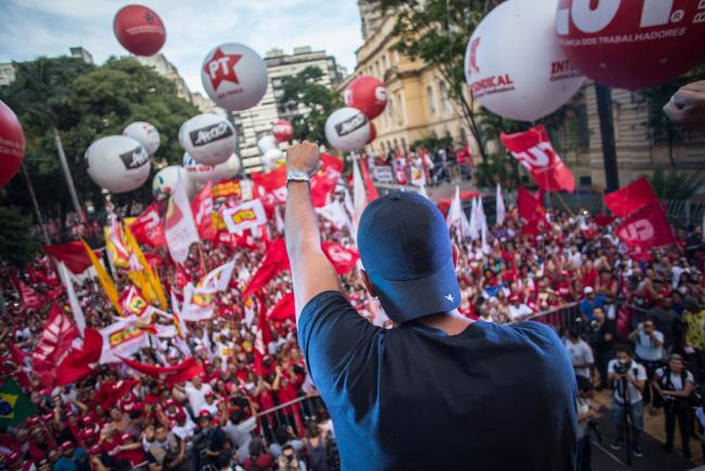A protest on January 24 against Lula's conviction in São Paulo (Midia Ninja/Flickr)