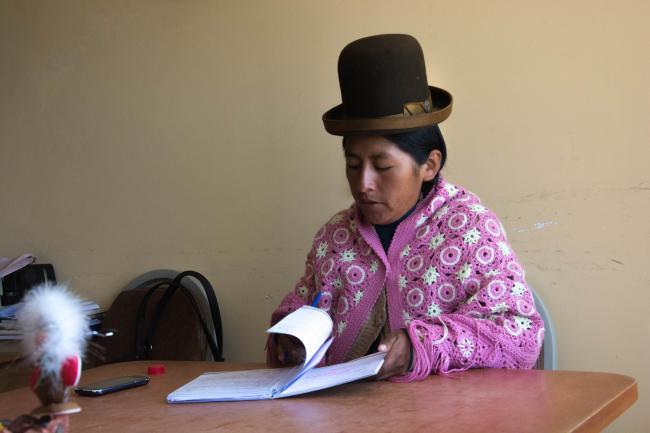 Concejala María Luz Chipana, quien acuso que ha sufrido acoso político, pero ella no lo denunció a autoridades legales. (Foto por Irene Escudero).