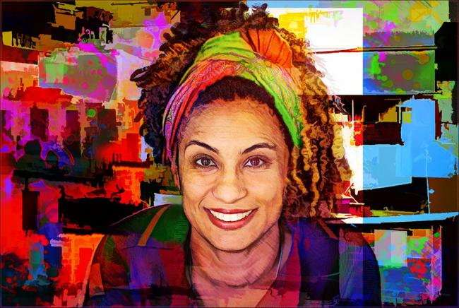 Tribute To Marielle Franco Colors And Dreams by Daniel Arrhakis (Flickr)