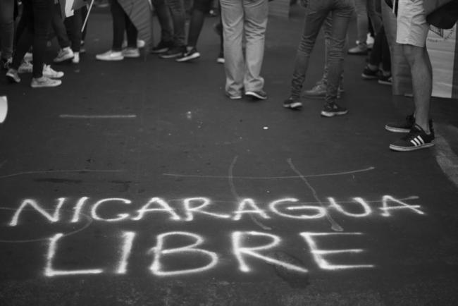 """Free Nicaragua"" - at a student protest on May 15, 2018, in Manuaga (Jorge Mejía Peralta/Flickr)"