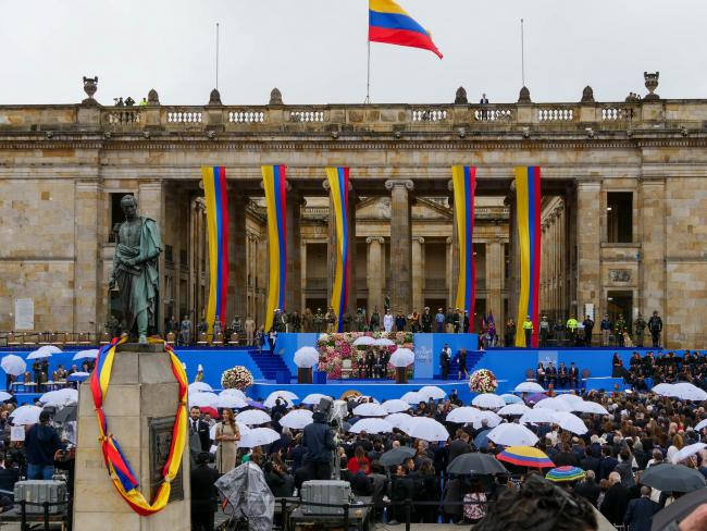 Colombian president Iván Duque's swearing-in ceremony Tuesday (Cinu Bogotá/Flickr)