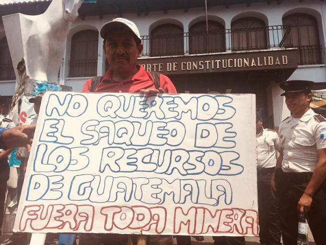 Manifestación contra la Mina Escobal en 2018 (Foto por Jackie McVickar/Flickr)