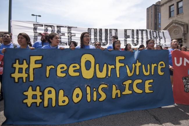 Activists rally to demand the abolition of ICE in June 2018 in Minneapolis, Minesota (Fibonacci Blue/Flickr)