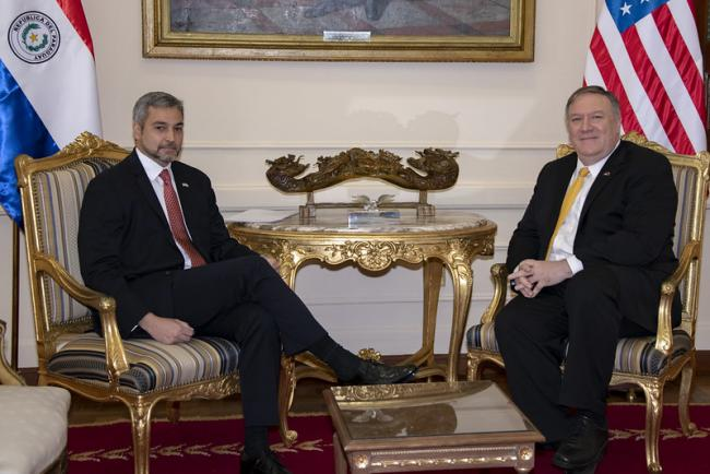 Secretary Pompeo Meets With President Abdo Benítez in Paraguay (Courtesy of U.S. Department of State/Flickr)