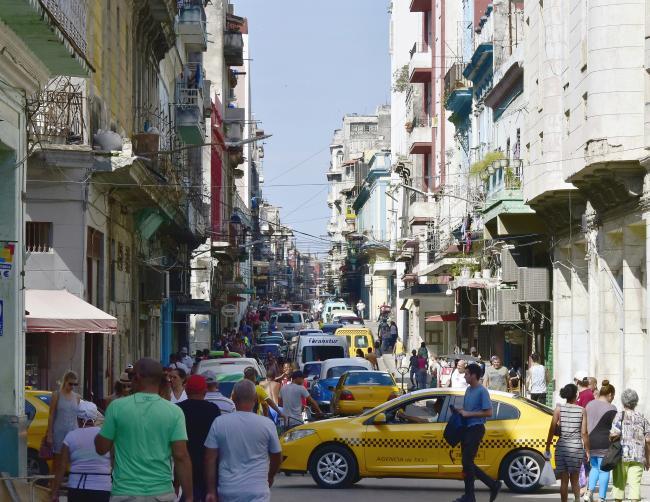 A busy street in Havana, Cuba. (Richard Hurd, Flickr)