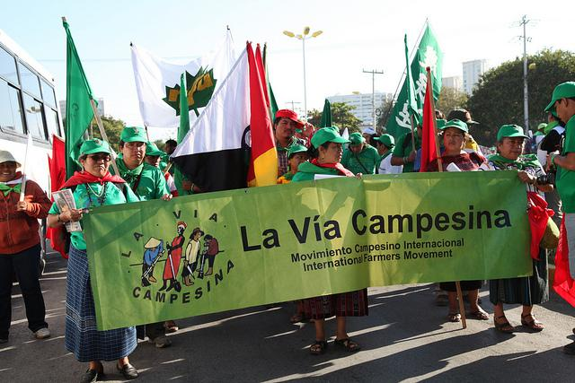 A march by La Via Campesina  (Ian MacKenzie / Creative Commons)