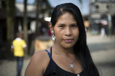 Marcia Mejia Chirimia is a recognized leader in the Wounaan Nonam community. (PBI Colombia)