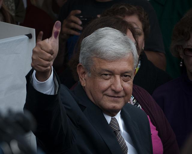 Andrés Manuel López Obrador votes in the 2012 general elections. (flickr/Eneas de Troya)