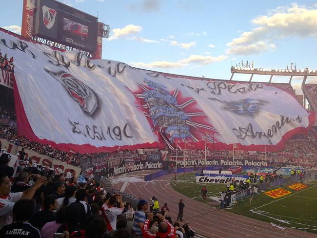 River Plate's flag (Julieta Mancuso Villar, via Wikimedia Commons)