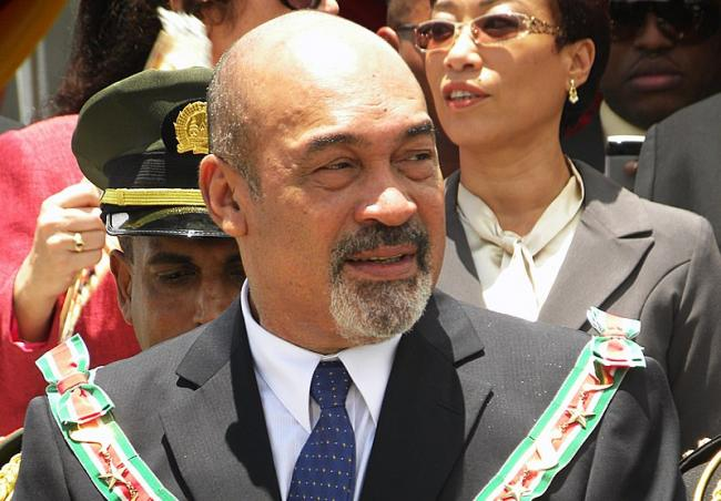 Desi Bouterse, president of the Republic of Suriname, on a military parade right after his inauguration Aug 12 2010 (Photo by Pieter Van Maele/Wikimedia)