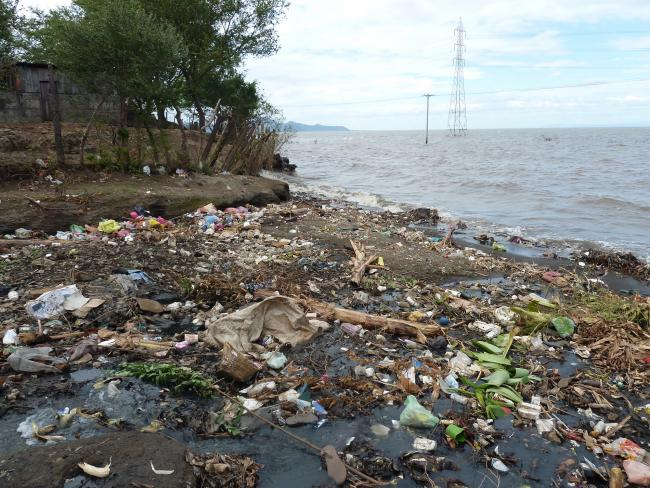 Managua's flooded lakefront three months after the storms of October 2011. (Photo by Douglas Haynes)