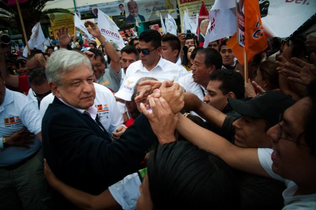 Mexican politician and MORENA leader Andrés Manuel Lopez Obrador (AMLO). (Eneas de Troya / Creative Commons)
