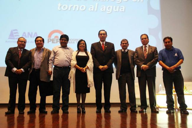 National Water Authority (ANA) representatives at the inauguration of Latin America's first specialized unit for the prevention of water conflict. (Autoridad Nacional del Agua)