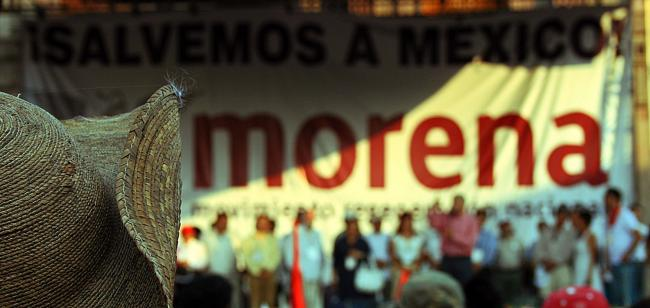 A MORENA rally in 2011 (Photo by Marcelo Flores)