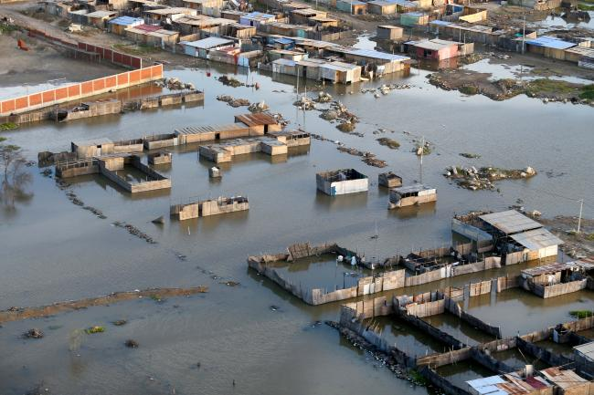 A district of Castilla, in Piura, Peru, affected by flooding in late March ( Galería del Ministerio de Defensa del Perú/Flickr)