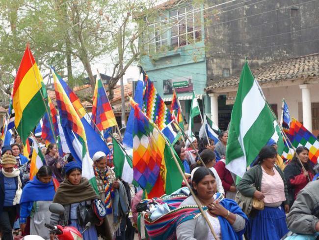 A Bartolina Sisa march in Trinidad, Bolivia in 2010. (Soman, Wikimedia Commons)