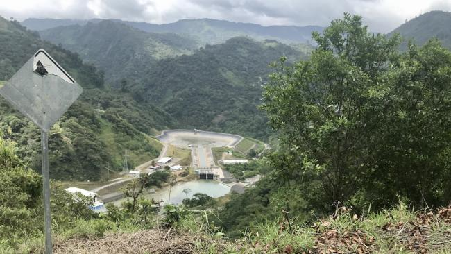 The Hidro Xacbal hydroelectric plant seen from the road between Chajul town center and Ilom, 2019. (Giovanni Batz)