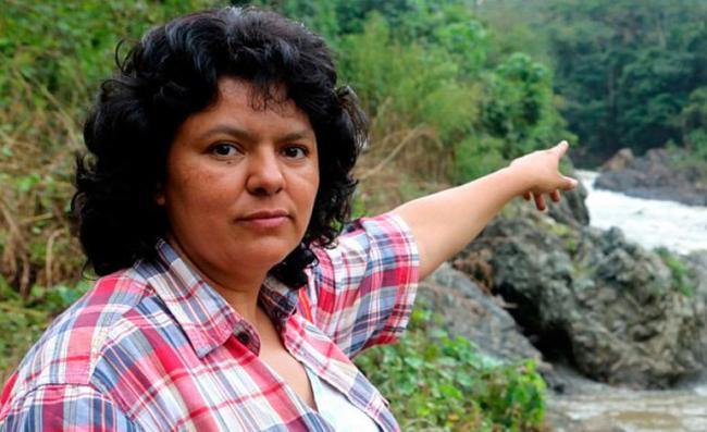 Berta Cáceres (Photo from Centre for Research on Globalization)