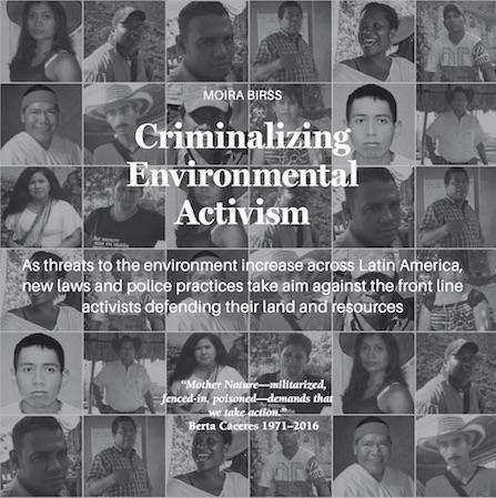 Photos of Latin American environmental human rights defenders who have been killed this year. (Global Witness)