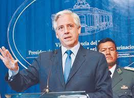 Bolivian Vice President Alvaro García Linera. (La Razón).