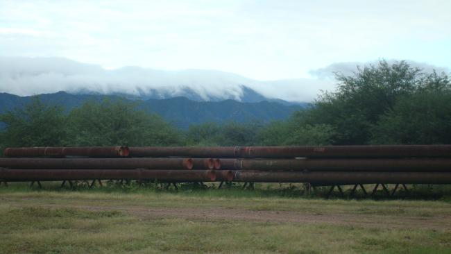 The Margarita-Huacaya gas processing plant during a $640 million phase of expansion. October 2011. (Photo by Penelope Anthias)