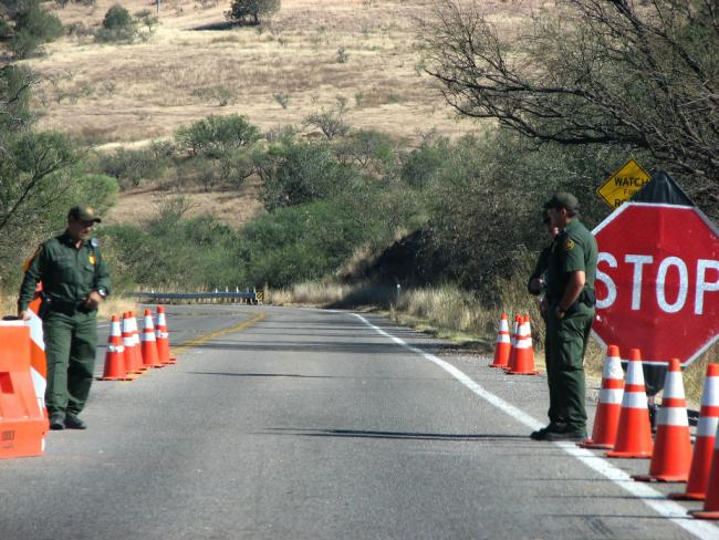 A Border Patrol Checkpoint (Flickr)